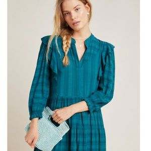 Anthropologie NEW Amadi Rossi Ruffled Tunic Dress✨